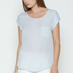 NWT Ice Blue Silk Joie Rancher Blouse